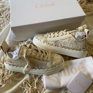 NIB Chloe Lauren Lace Sneakers 38